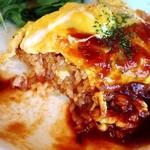カフェ モアラ - フワフワ半熟卵と濃厚デミグラスソースがトッピング^_^