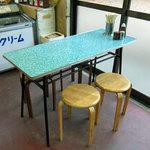 48870049 - 丸イスと昭和なテーブル