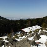 高見石小屋 - 2016,3月 高見石から高見石小屋、北ア方面
