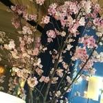bills - 店内には春らしく、桜の花が。 丁度この日、東京も桜の開花宣言。