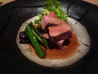 霞庭 まつばら - 近江牛のステーキ