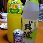 二代目沖縄居食家屋いち - セルフでオリジナル泡盛をつくります(^^)