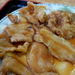 台湾料理 食の味 - 実は・・・白菜と木耳炒めランチの豚バラ、凄まじい量