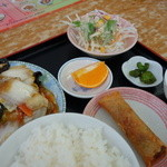 台湾料理 食の味 - 白菜と木耳炒めランチ(\650税抜き)
