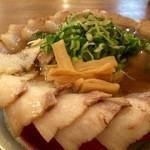 神戸ラーメン 第一旭 - Cラーメン、麺1.5倍、チャーシューは、チャーシュー麺の1.5倍です(2016.3.22)