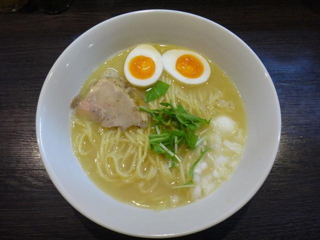 浮浪雲 - 味玉鶏白湯そば(並)
