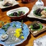 梅鶯荘 - 次から次へと新鮮な素材の優しい料理が出てきます