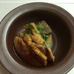 鴨正 - 鴨ロースとごぼう,筍の煮もの