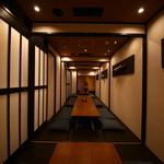 五色 - 個室はつながる可動式!最大30名様くらいでのご利用ができます。