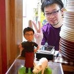 ル・コションドール・キタノ - オーナーシェフ「北野雅之さん」とそっくりなお人形と豚さん(許可頂いています)