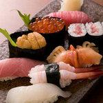寿し・割烹 福まつ - 料理写真:絶品の寿司(特上)