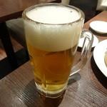 天外天刀削麺 - 生ビール♪