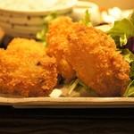 ハントコcafe - 日替わり定食の牡蠣フライ