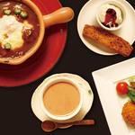 欧風カレーレストラン マイソール - ランチセット一例。写真は「本日の焼きカレーランチセット」。