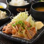 九州産豚肉の生姜焼き