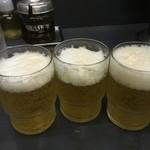 三幸苑 - やっぱり餃子にはビール