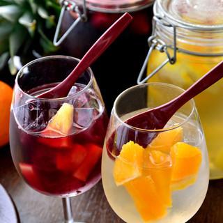 野菜によく合うお酒(ワイン、サングリア、フルーツビール)♪
