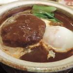 土鍋ごはんと和酒の店 おてだま - デミグラス味噌煮込みハンバーグ
