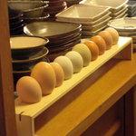京都岡崎 いく田 - 自家農場で獲れたブランド鶏の卵。
