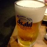 大阪産(もん)料理 空 - まずはビールで乾杯!!