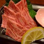 大阪産(もん)料理 空 - ウメビーフのお造りは絶品でした!