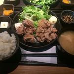 48921953 - ハーフ&ハーフ 豚生姜焼&唐揚げ(720円)