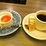 しゃぶ禅 - すき焼き定食(仙台牛):デザート&珈琲