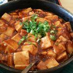台湾料理 福祥順 - 麻婆豆腐  色合いからしても辛くないのは想像できました。