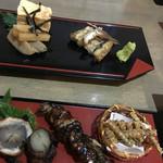 うなぎ屋 源内 - 豪華な前菜