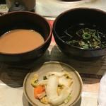 しゃぶ亭 - ゴマだれ、ポン酢、お漬物