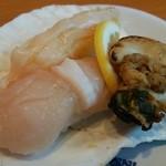 回転寿司 やまと - ⑤殻付ほたて貝 380円税別 2016.3