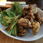 らんパーク - 三河地鶏の岡崎おうほんの ミニから揚げ