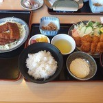 ドライブインやまだ - 貝柱フライ定食・ソースカツ丼用味カツ
