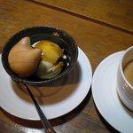 紅茶と珈琲の店 山猫亭 - アイスクリームとカフェオレ