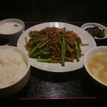 十年 - 豚肉&ニンニクの芽定食