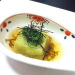 のかみ - 料理写真:定食の葵1650円の一皿目の揚げ出し豆腐 もちもちで美味しかった(#^.^#)
