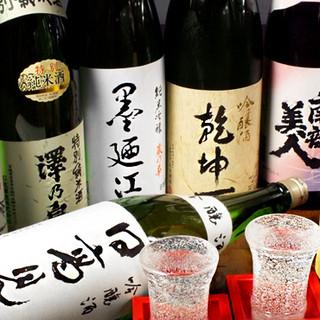 厳選された地元宮城の地酒や東北、新潟の地酒ございます!