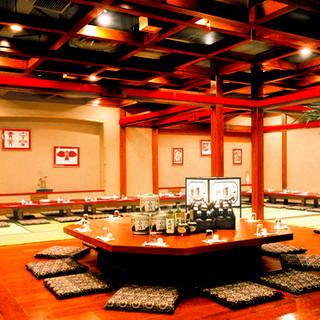 広々とした空間のお座敷個室は最大100名様のご宴会もOK!