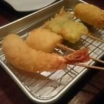 ホタル - おまかせ串カツ5品(1本すでに食べてる)