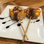 48957676 - 燻製豚肉とチーズ巻き
