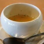ハングリー - 鳴門金時のスープ、お替わりしたいほど美味しいです