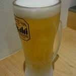 東京焼きそば - 生ビール。