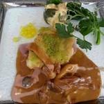 48961020 - 桜姫鶏腿肉の香草パン粉焼き