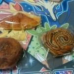 ベーカリー mam - 料理写真:アップルデニッシュ、カレードーナツ、チョコマーブル