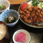 一心亭 石水 - 味噌カツ定食(H28.1)