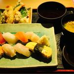 48967000 - 寿司天ぷら御膳 ¥1280