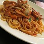 イタリア料理ゴローゾテツ - 渡り蟹のピリ辛ソーススパゲッティ