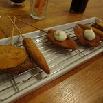 HIROYA - 料理写真:ナス、ヤングコーン、チキン南蛮