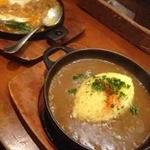 鉄板料理 深川亭 - 深川亭特製カレーライス、ジュージュー焼き