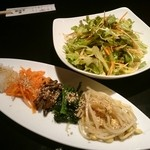 金剛園 - ナムルとサラダ